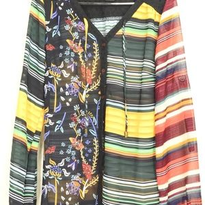 Desigual Tops - Desigual-top-SZ-S-NWT-Curry-stripes-colorful-semi